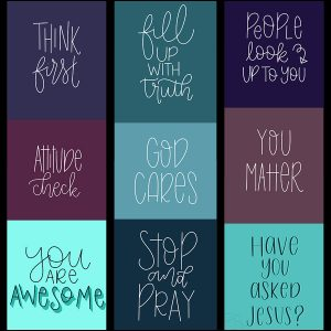 Speak Truth Wallpaper Pack | Lettering for Jesus