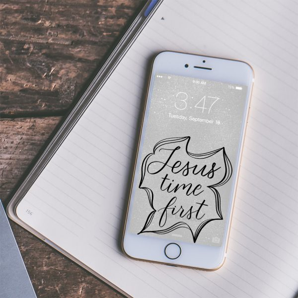 phone with lockscreen and journal on desk pexels photo by Jessica Lewis | Lettering for Jesus wallpapers