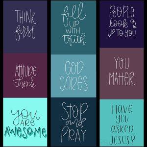 Speak Truth Wallpaper Pack | Lettering for Jesus