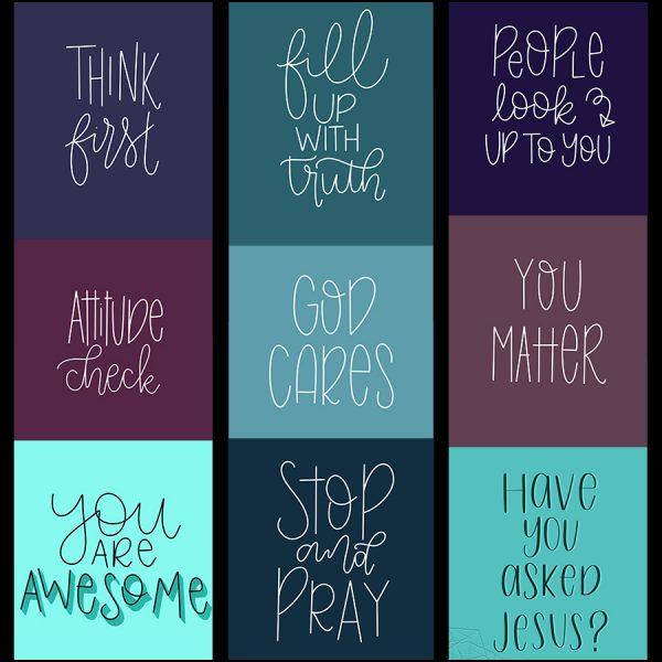 Speak Truth Wallpaper Pack   Lettering for Jesus