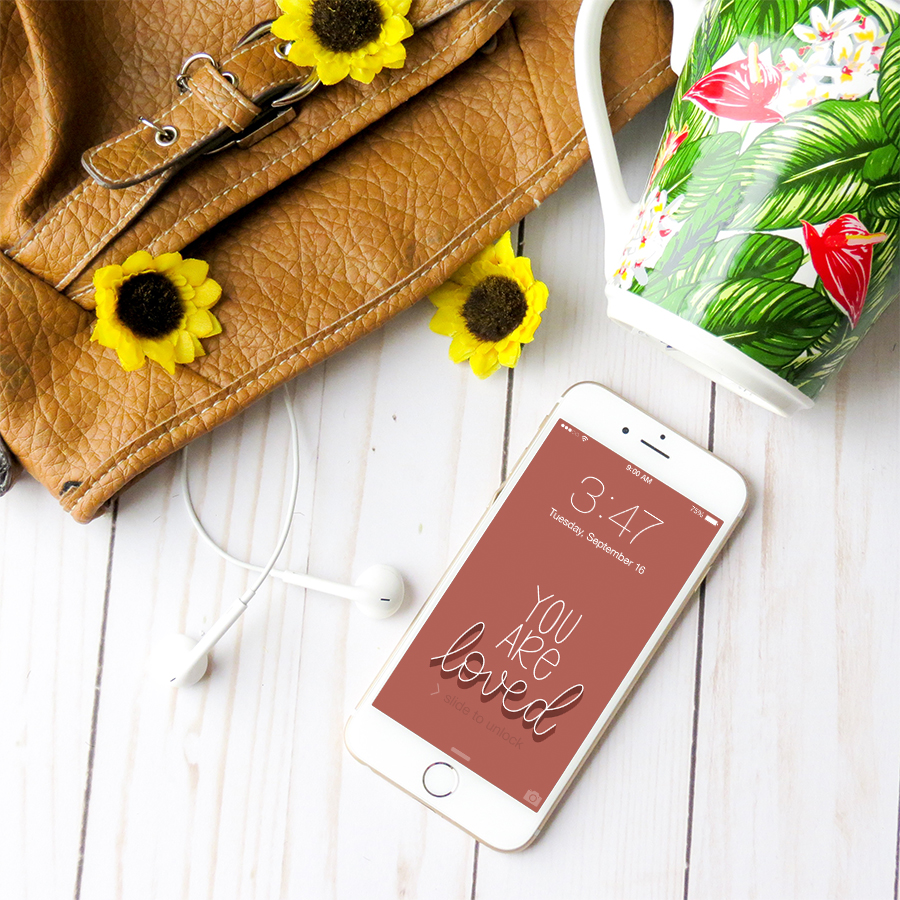 You are Loved iPhone Wallpaper Pexels Miesha Moriniere | Speak Truth Wallpaper Pack | Lettering for Jesus