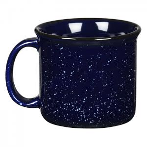 Back of Cobalt Blue Campfire Mug