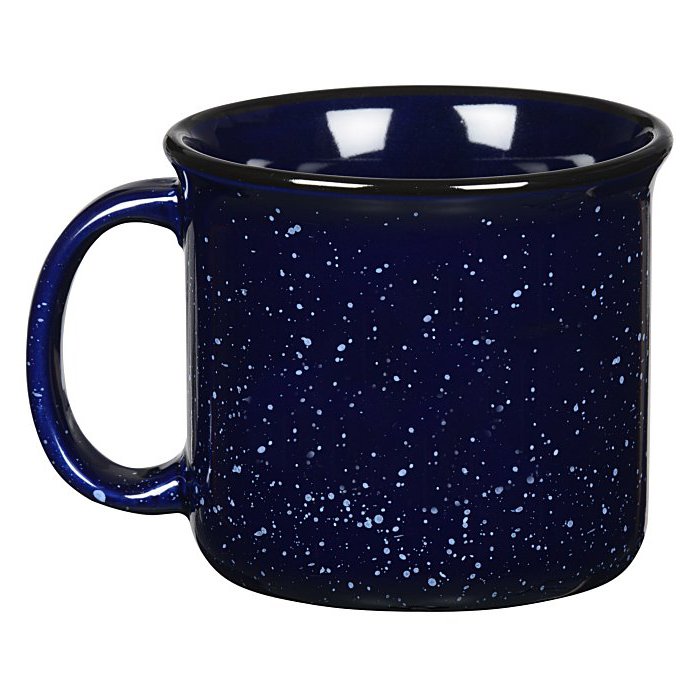 Back of Cobalt Blue Campfire Mug