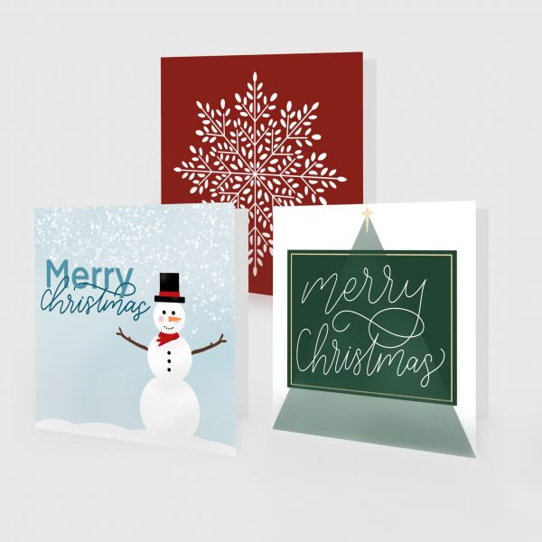 Three Christmas cards designed by Jennifer from Lettering for Jesus